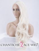Chantiche Long Wavy Synthetic Lace Front Wig for Women Natural Looking Platinum Blonde Wigs UK 60cm