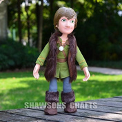 HOW TO TRAIN YOUR DRAGON 2 TOYS 38cm HICCUP PLUSH SOFT DOLL POSEABLE FIGURE