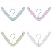 Meta-U 4Pcs Multifunction Foldable Travel Clothes Drying Hangers Rack for Shirts Socks Underwear