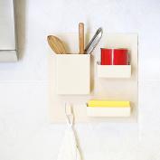 Masrin Home Bathroom Toothbrush Wall Mount Holder Organiser Useful Rack