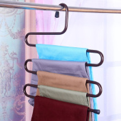 1multi-function s-type multilayer trousers frame/clothing shop hanger display stand/ wardrobe hanging pants-A