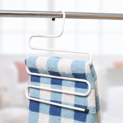 1 Multi-layer Pants Rack/The S-type Trousers Rack/Drying Rack/Tie Frame/Coat Hanger-A