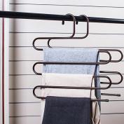 3 Multi-functional Bold Leather Trousers/The S-multi-layer Pants Rack/Wardrobe Pants Folder-C