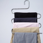 1 Multi-layer S-type Pants Rack/Wardrobes Incorporating Hanging Pants/Stainless Steel Scarf-A