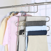 1 Stainless Steel Trousers/Multi-layer Hangers/Pants Rack/The S-type Trousers Rack-A