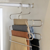 2 Stainless Steel Multi-functional Hanger/Magic S-type Hanger/Home With Anti-skid Pants-A