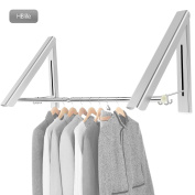 HBlife Aluminium Folding Wall Hanger Clothes Hanger Rack Space Saving Clothes Storage Organiser for Bedroom Laundry Bathroom