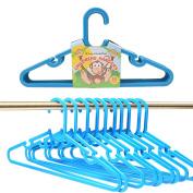 20x Kids Plastic Clothes Hangers - Blue Coat/Trouser Childrens Hangers