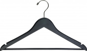 The Great American Hanger Company Flat Wooden Suit Hanger Finish, Black
