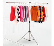 Dbtxwd Stainless steel Drying racks Fold Travel Fall to the ground Balcony Indoor Simple Clothes hangers
