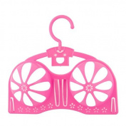 DealMux Plastic Household Bikini Drying Space Saving Rack Storage Protector Holder Laundry Bra Hanger Pink