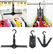 Kicode Hanger Clothes Folding Rack Organiser Foldable Closet Multifunction Supply