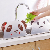 Kicode Practical Panda Designed Water Splash Sucker Sink Flap Kitchen Tool Accessiors Wash Basin PVC