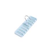 JuneJour Plastic 360 Degree Rotating Scarf Hanger Belt Tie Rack Holder Hook Hanger for Closet Organiser Blue