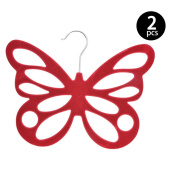 Flocking Butterfly Type Hanger,Miyare 2Pc Flocking Plastic Scarves Hangers For Tie,Scarf