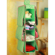 Dexinghaoye Multi-Function 4 Layers 6 Pockets Hanging Pouch Clothes Storage Wardrobe Bag