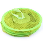 Mesh Hanging Storage Bag, Outgeek Foldable 3 Compartment Storage Bag Storing Kids Toy Clothes