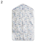 16 Grids Hanging Storage Bag Classified Pouch Clothes Underwear Socks Organiser