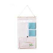 Wardrobe Hanging Storage Bag Multilayer Fabric Classification Storage Cotton / Hemp Waterproof 53 * 30cm Pink Blue , 53*30cm , blue