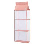 Enerhu Handbag Closet Clear Hanging Purse Shelf Holder Storage Organisers Pink S