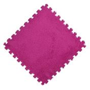 ZJENE 30*30cm Kids Carpet Foam Puzzle Mat EVA Shaggy Velvet Baby Eco Floor 7colors