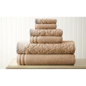 6 Piece Standard Jacquard Border Towel Set