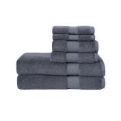 LOFT by Loftex Lattice Luxe Solid Cotton 6-Piece Towel Set