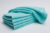 Berrnour Home Solomon Collection 100% Cotton Luxury Hotel and Spa, Kithcen WashCloth, 33cm -by-33cm 8,16, 24 Packs and Colour Options