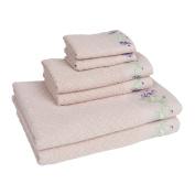 Enchanted Iris 6 Piece Towel Set in Linen