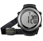 EZON Heart Rate Monitor Digital Watch Men Women Outdoor Running Sports Watch With Chest Strap
