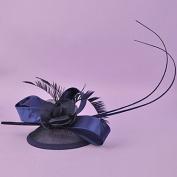 zhENfu The Retro Flower Grenadine Top Hat,Dark Blue Headdress
