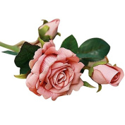 Artificial Rose Bouquet,TianranRT 5pcs Real Latex Touch Rose Flowers For wedding And Home Design Bouquet Decor