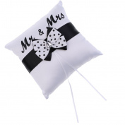 MagiDeal Wedding Ring Pillow with Elegant Rhinestone Bowknot Design Wedding Ceremony