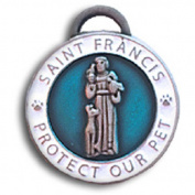 083124 luxepets St Francis Charm Large, Blue
