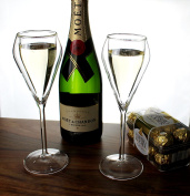 Champagne Glass Set of 4 Double Wall Champagne