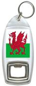 Flag of Wales UK - Bottle Opener Keyring