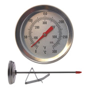 Deep Frying Thermometer - 150mm Stainless Steel Stem With Pan Clip Ideal For Deep Fat Frying