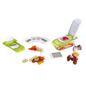 2 in 1 Julienne and Vegetable Slicer ABS Green and White Finish