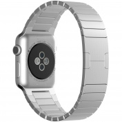 Beikel Apple Watch 3 38mm Stainless Steel Link Bracelet with Butterfly Closure Replacement Bands for Apple Watch Series 1 2 & 3