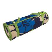 Outdoor Living Blue/ Green Floral Rolled Beach Mat