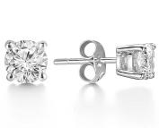 JDGEMSTONE Cyber Monday Christmas Gift 925 Sterling Silver Stud Earrings with Round Cut AAAA Cubic Zircon Women Fine Jewellery