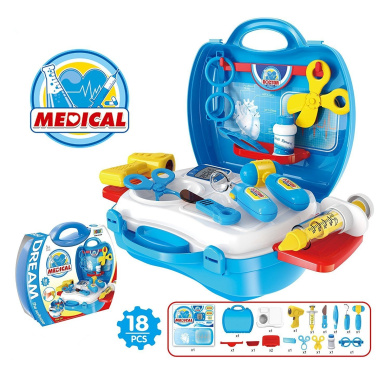 Role Play First Aid Kits,Lifesport Doctor Nurse Playset Plastic Pretend Play Toys Role Play Medical Carrycase Kit for Kids Children Toddler at 3 or UP