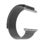 Stainless Steel Milanese Loop Replacement Band for 42MM Apple Watches - Black