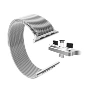 Stainless Steel Milanese Loop Replacement Band for 38MM Apple Watches - Silver