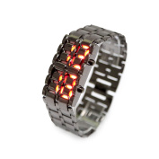 Lava LED Digital Watch with Anti-shock, Scratch Resistance, 12HR and 24HR Time Modes - Black