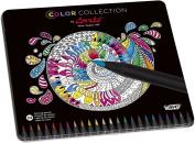 BiC Conte Limited Edition Colouring Pencil - Multi-Coloured, Tin of 24