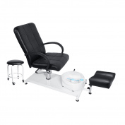 Hydraulic Pedicure Chair Foot Massager Chair Set, BEAMNOVA Beauty Adjustable Lift Chairs with Easy-Clean Bubble Massage Footbath SPA Beauty Salon Equipment