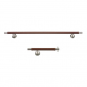 Atlas Homewares Stainless and Leather 2-piece Bathroom Accessory Set