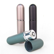 Set of 3 Black, Teal & Mink Empty Essential Oil Personal Inhaler Refillable Aluminium and Glass With Removable Bottle by Rivertree Life