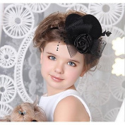 MJW & W Bride's Headdress/Child Top Hat Hair Clip/Art Photo Shoot Photography Props